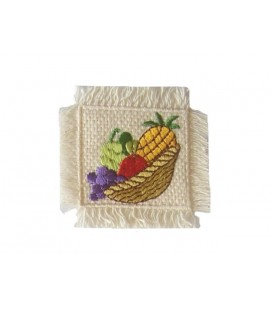 Sticker Panier thermoadhésif avec fruits - 6 unités - 2 couleurs