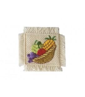 Sticker Thermoadhäsiver Korb mit Früchten - 6 Einheiten - 2 Farben