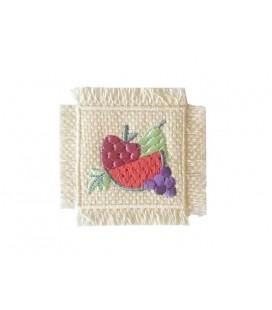 Sticker Panier thermoadhésif avec fruits 2346 - 6 unités
