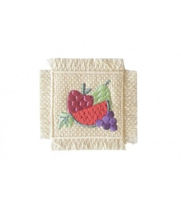 Sticker Thermoadhesive Basket with Fruits 2346 - 6 units