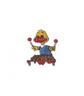 Thermoadhäsive Ente, die Xylophon spielt - 6 Einheiten Aufkleber