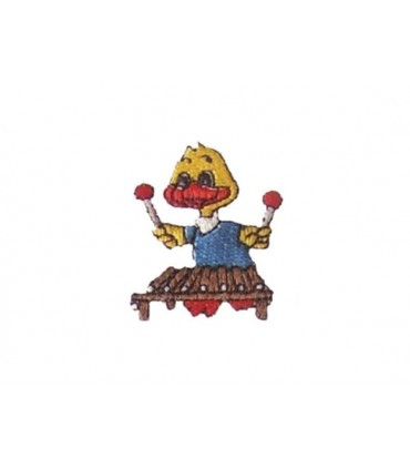 Thermoadhesive Duck Playing Xylophone - 6 units Sticker