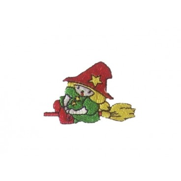 Thermoadhesive Sticker Witch with Broom - 6 units