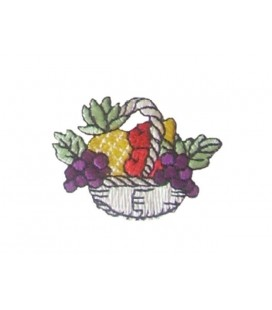 Pegatina Termoadhesiva Cesto de Frutas - 12 unidades