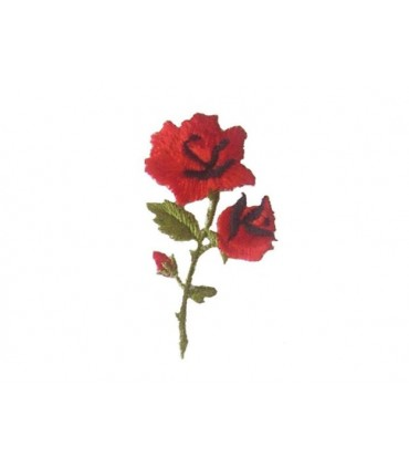 Carnation Thermoadhesive Sticker - 6 units
