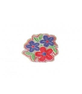 Pegatina Termoadhesiva Flores - 2 Colores - 12 Unidades