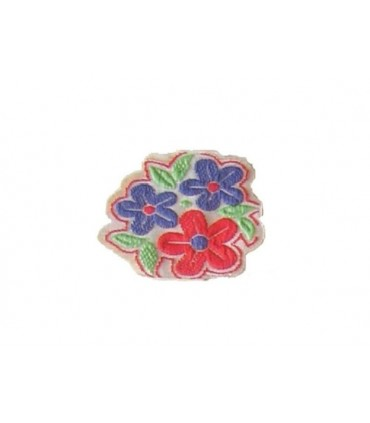 Sticker Thermoadhesive Flowers - 2 Colors - 12 Units