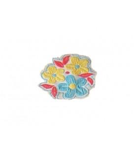 Sticker Fleurs Thermo-Adhésives - 2 Couleurs - 12 Unités