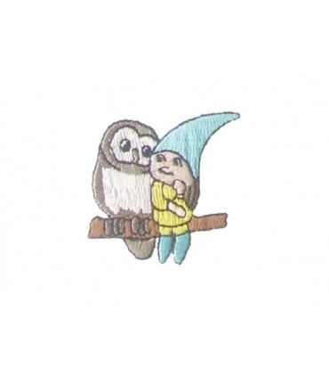 Owl and Elf Thermoadhesive Sticker - 12 units