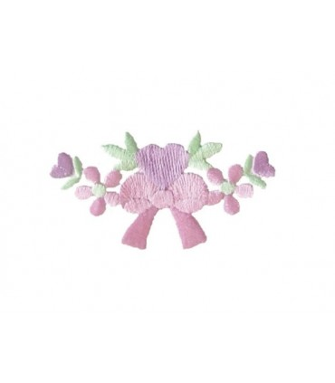Cravate thermoadhésive avec des fleurs et des coeurs - Autocollant 6 unités