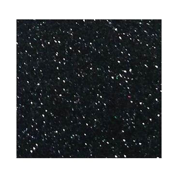 Eva Glitter Gummi - Rollen 10 Meter - Schwarze Farbe