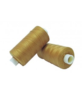 Polyester thread 1000m - Box of 6 pcs. - Mustard