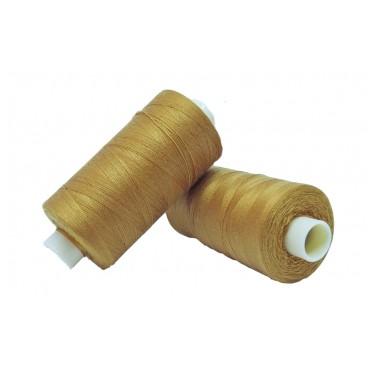 Polyester thread 1000m - Box of 6 pcs. - Mustard