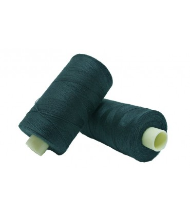 Polyester thread 1000m - Box of 6 pcs. - Green Bottle