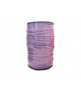 100% cotton cord - Lilac color - Roll 100m