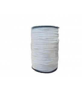 Cordón 100% Algodón - Color Blanco - Rollo 100m