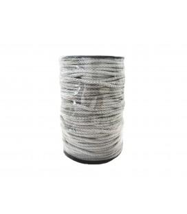 Schnur 100% Baumwolle - Farbe Grau - Rolle 100m