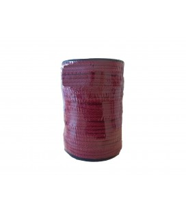 100% cotton cord - Garnet color - Roll 100m