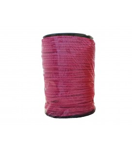 100% cotton cord- Color Fuchsia - Roll 100m