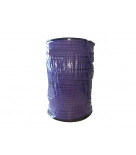 Schnur 100% Baumwolle - Lila Farbe - Rolle 100m