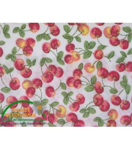 Bies printed 18mm - White with apples