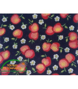Bies printed 18mm - Black with peaches