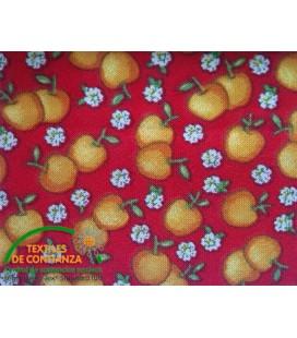 Bies Druck 18mm - Rot mit Orangen