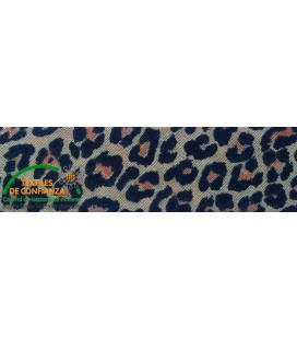 Bies estampado 18mm - Leopardo