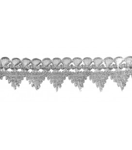 Pasamanería en pico - Ancho 4,5 cm - Pieza 13 metros.