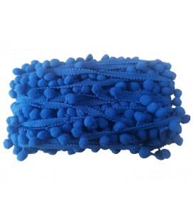Tiras madroños color azul   Rollo 18 metros