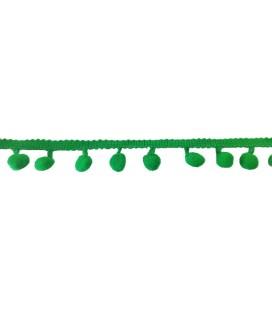 Tiras madroños color verde esmeralda   Rollo 18 metros