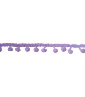 Tiras madroños color lila  Rollo 18 metros