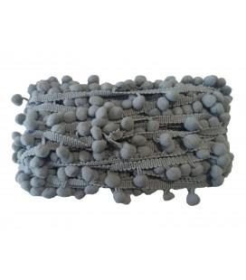 Tiras madroños color gris  Rollo 18 metros