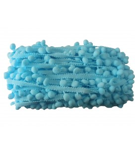 Strips of sky blue color arbutus   18 meter roll