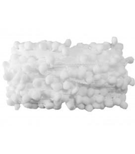 Tiras madroños color blanco  Rollo 18 metros