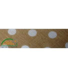 Bies printed 30mm - Brown with polka dots