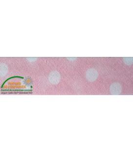 Schrägdruck 30mm - Pink mit Tupfen