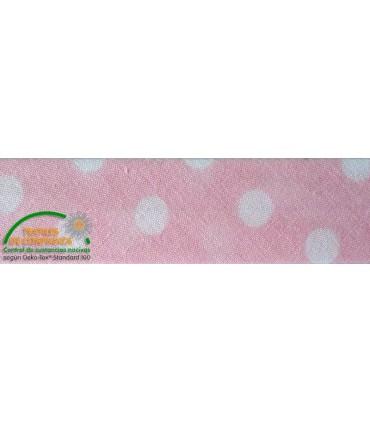 Bies estampado 30mm - Color rosa con lunares