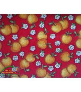 Bies estampado 30mm - Rojo con naranjas