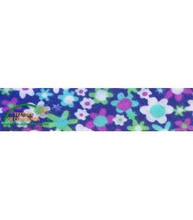 Bies estampado 30mm - Flores colores