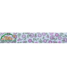 Bies printed 30mm - flower pink