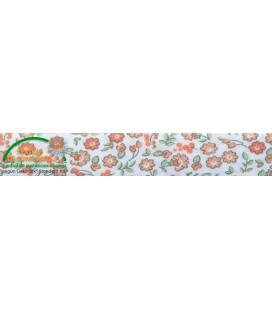 Bies poliester estampado 30mm - Flores Naranja