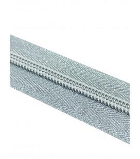 Roll 100 Mts Zipper - Maille 5 (3 cm de large) - Couleur argent