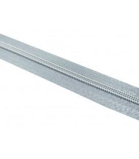 Roll 100 Mts Zipper - Mesh 5 (3 cm breit) - Silberne Farbe