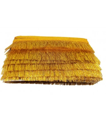 Gold Color Fringe trim - Piece 13 meters