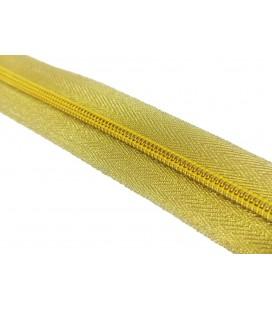 Roll 100 Mts Zipper - Mesh 5 (3 cm breit) - Gold Farbe
