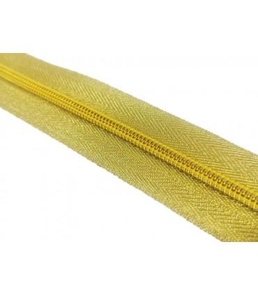 Roll 100 Mts Zipper - Mesh 5 (3 cm wide) - Gold color