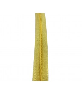 Roll 100 Mts Zipper - Mesh 5 (3 cm wide) - Gold color