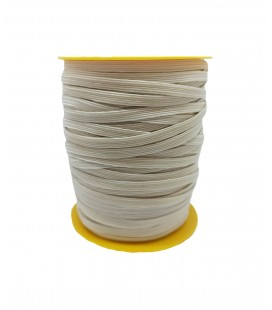 Rubber Braid Elastic - 5mm - Roll 100 meters - Raw / Natural
