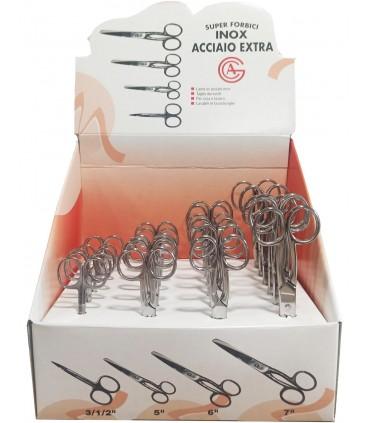 Steel Scissors Display - 4 sizes - 24 units